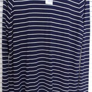 Ralph Lauren LRL Navy Blue/White Stripe 1X Top NWT